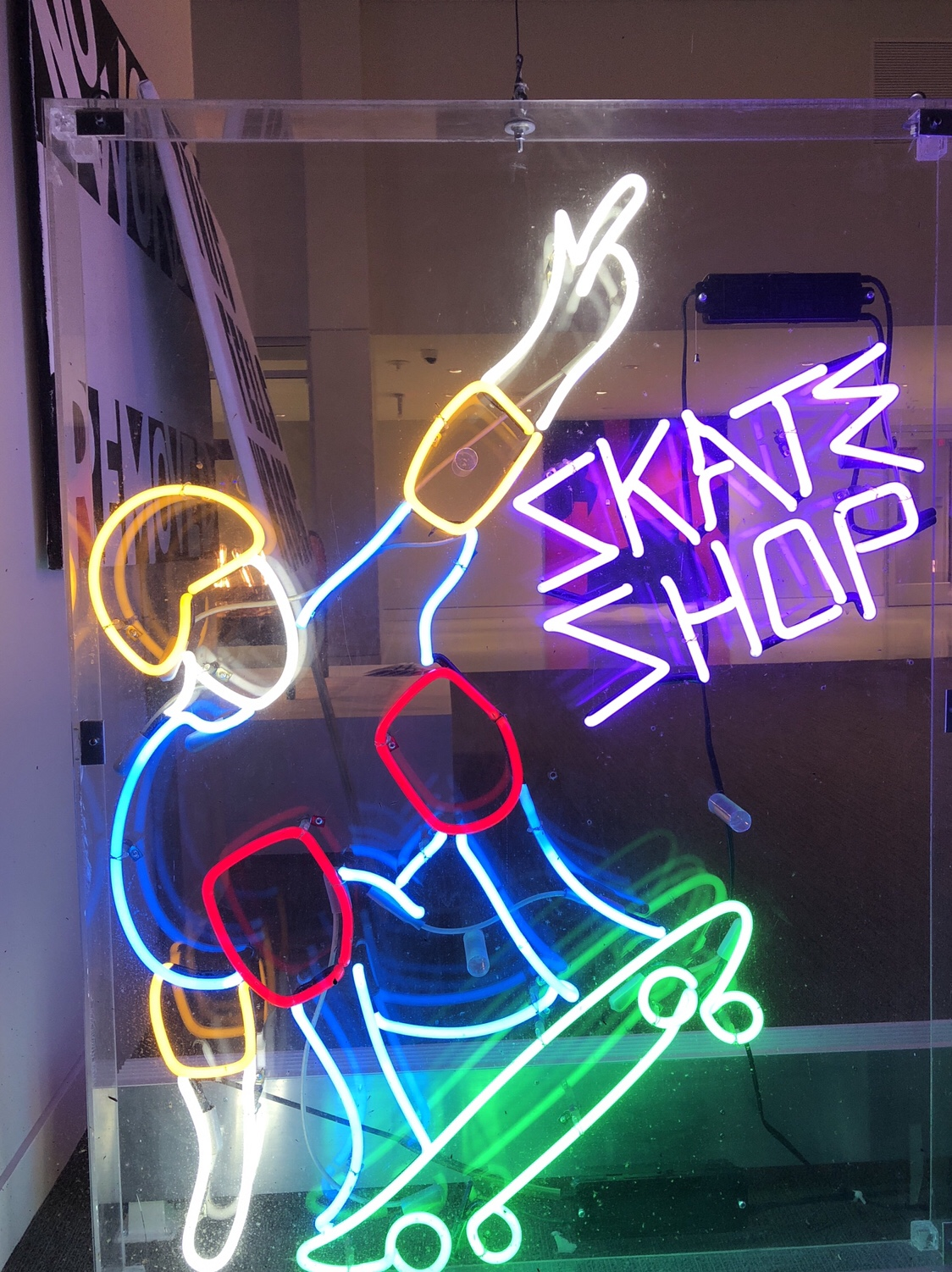 Zipperhead skate shop neon sign